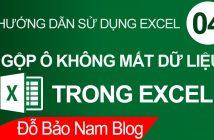 Cách gộp ô trong Excel cực đơn giản & không mất dữ liệu