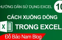 Cách xuống dòng trong Excel, xuống dòng trong 1 ô Excel