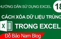 Cách lọc trùng trong Excel, xóa dữ liệu trùng trong Excel