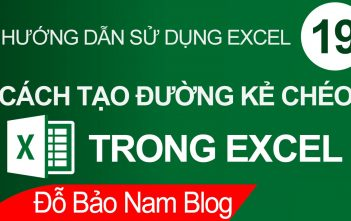 Cách tạo đường kẻ chéo trong Excel nhanh và đơn giản nhất