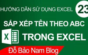 Cách sắp xếp tên theo abc trong Excel đơn giản & dễ hiểu