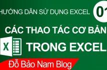 Các thao tác cơ bản trong Excel thường dùng và rất hữu ích