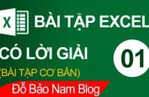 Bài tập Excel cơ bản có lời giải tổng hợp cực hay [Bài 01]