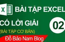 Bài tập Excel cơ bản có lời giải tổng hợp cực hay [Bài 02]