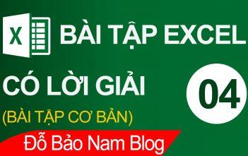 Bài tập Excel có lời giải 004: Bài tập hàm Vlookup, hàm if