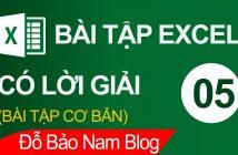 Bài tập Excel tổng hợp có lời giải - Bài tính tiền nhập hàng