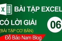 Bài tập Excel cơ bản có lời giải 06: Bảng tính tiền điện