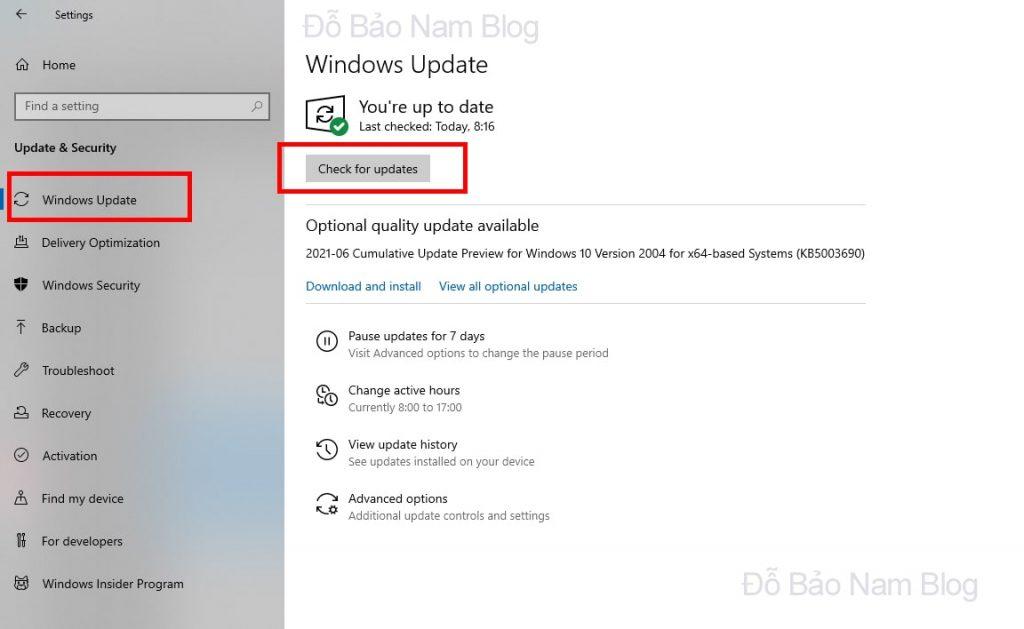 Sau khi bạn đã khởi động xong, bạn cần click vào Check for Update hoặc Update Now để tải về bộ cài mới nhất.