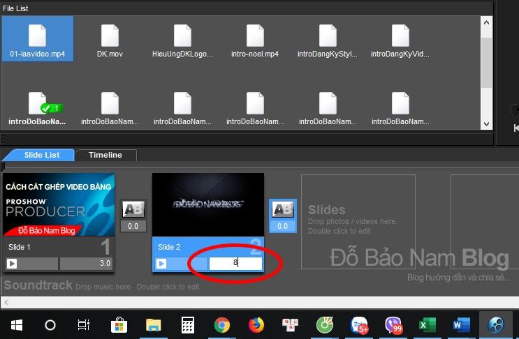 Cách cắt ghép video trên máy tính bằng Proshow Producer - Ảnh 03