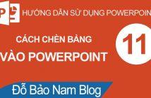 Cách chèn bảng vào Powerpoint và định dạng cho bảng biểu