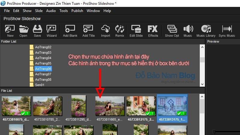 Hướng dẫn cách chèn hình ảnh vào Proshow Producer - B1