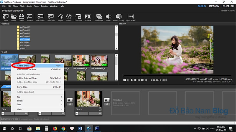 Hướng dẫn cách chèn hình ảnh vào Proshow Producer - B2