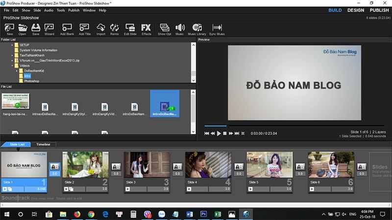 Hướng dẫn cách chèn logo vào video trong phần mềm Proshow Producer B3