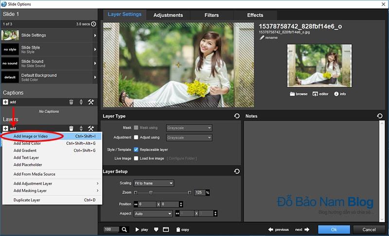 Hướng dẫn cách chèn logo vào video trong phần mềm Proshow Producer - B1