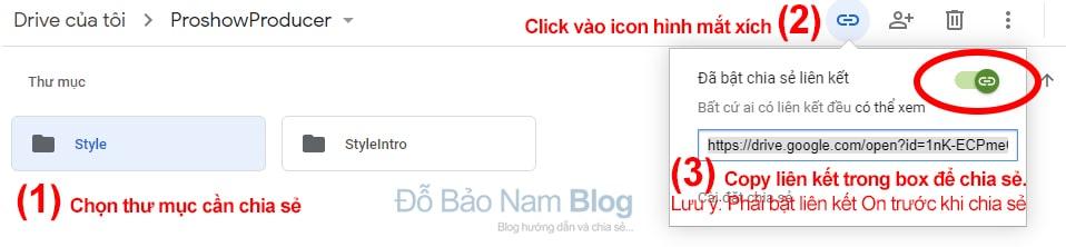 Cách chia sẻ thư mục trên Google Drive