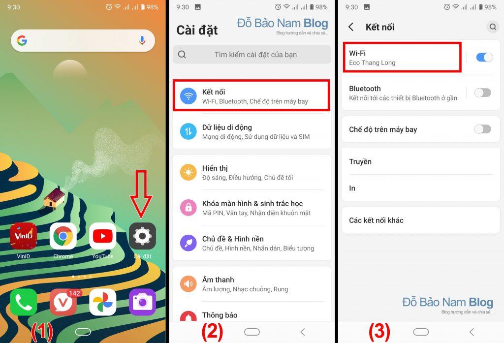 Cách xem mật khẩu wifi đã lưu trên điện thoại Android - Bước 1