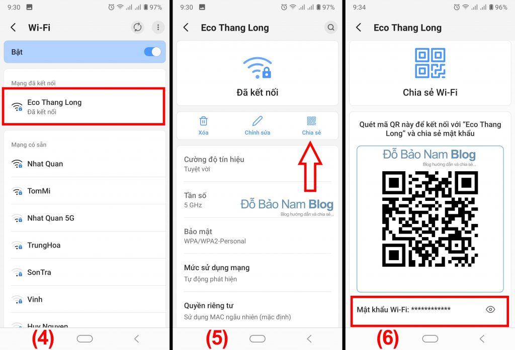 Cách xem mật khẩu wifi đã lưu trên điện thoại Android - Bước 2