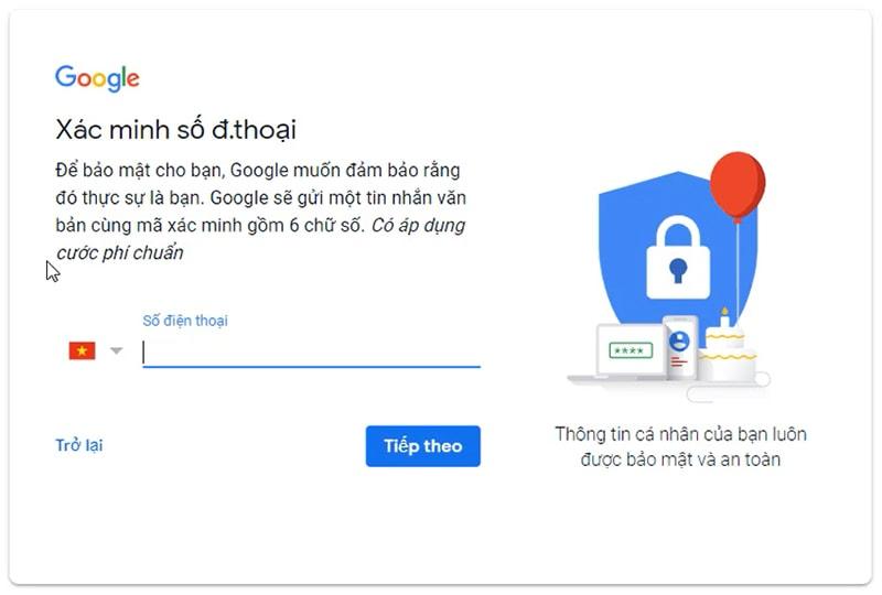 Hướng dẫn cách tạo tài khoản Gmail Google mới nhất - Bước 03
