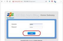 Đăng nhập vào modem để đổi mật khẩu wifi FPT