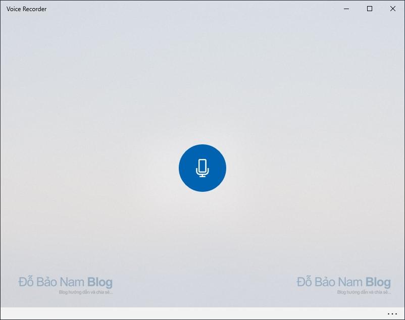 Nhấp vào biểu tượng micro màu xanh để bắt đầu ghi âm