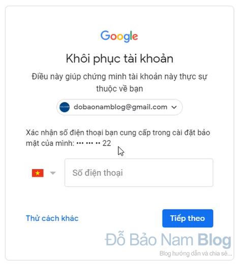 Hướng dẫn cách khôi phục tài khoản Gmail qua hình ảnh - Hình 1