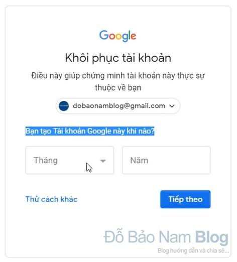 Hướng dẫn cách khôi phục tài khoản Gmail qua hình ảnh - Hình 2