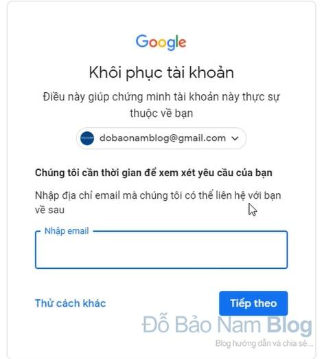 Hướng dẫn cách khôi phục tài khoản Gmail qua hình ảnh - Hình 3