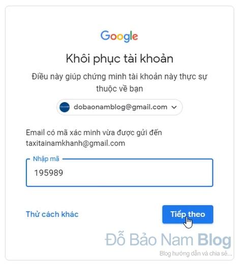 Hướng dẫn cách khôi phục tài khoản Gmail qua hình ảnh - Hình 4