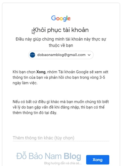 Hướng dẫn cách khôi phục tài khoản Gmail qua hình ảnh - Hình 5