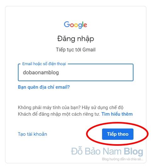 Hướng dẫn cách khôi phục tài khoản Google qua hình ảnh - Bước 01