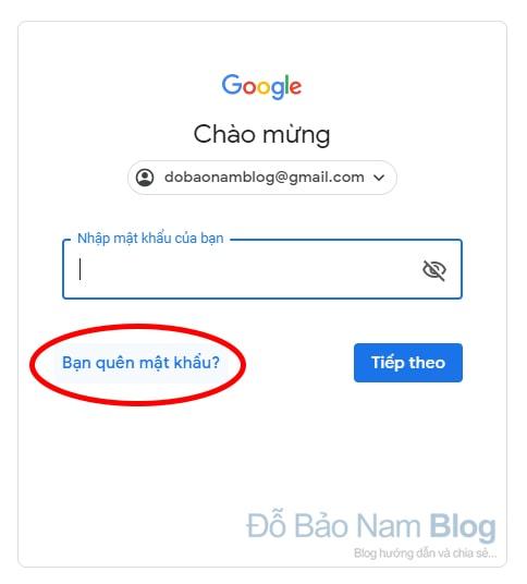 Hướng dẫn cách khôi phục tài khoản Google qua hình ảnh - Bước 02