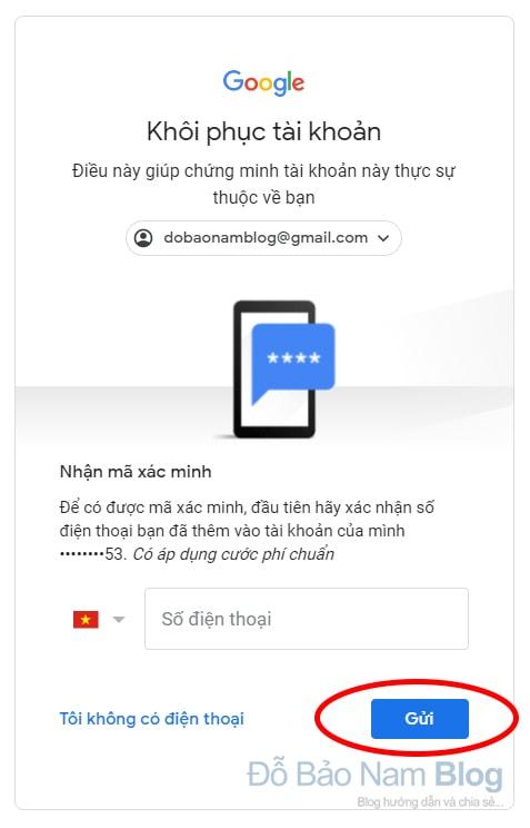 Hướng dẫn cách khôi phục tài khoản Google qua hình ảnh - Bước 04