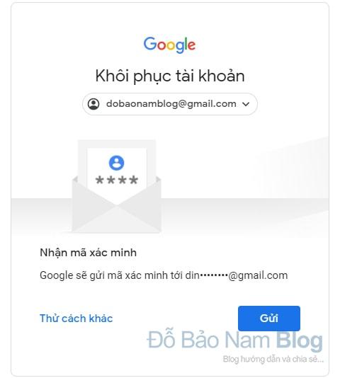 Hướng dẫn cách khôi phục tài khoản Google qua hình ảnh - Bước 07