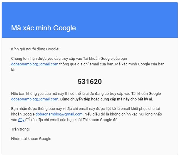 Hướng dẫn cách khôi phục tài khoản Google qua hình ảnh - Bước 08