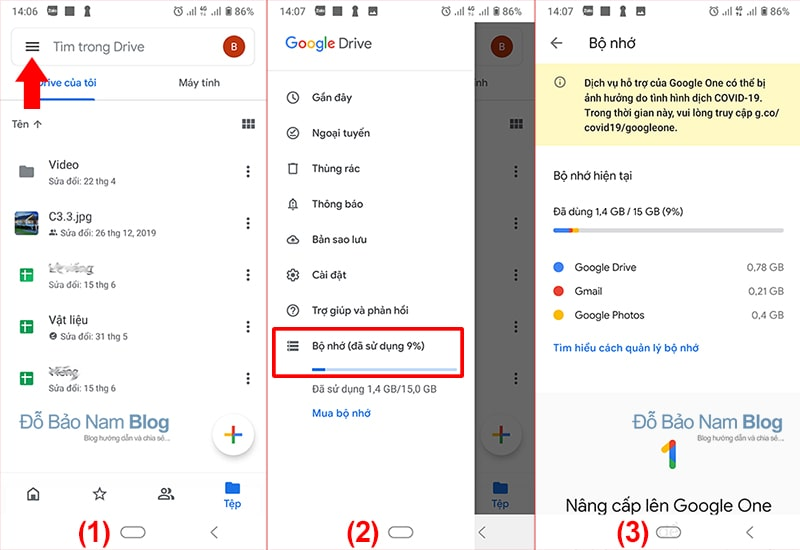 How to check the amount of Gmail on the phone