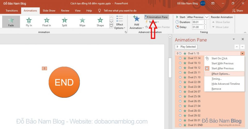 Create sound effects for the countdown timer in Powerpoint