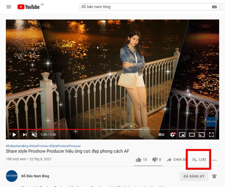 Cách lặp lại video Youtube theo danh sách phát B1