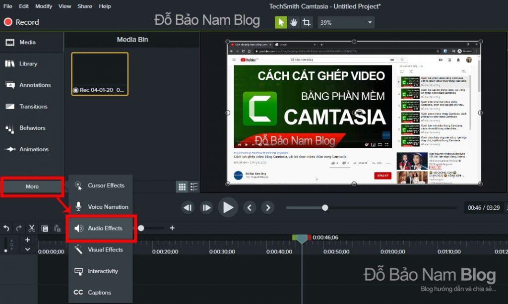 Cách lọc tạp âm trong video bằng phần mềm Camtasia