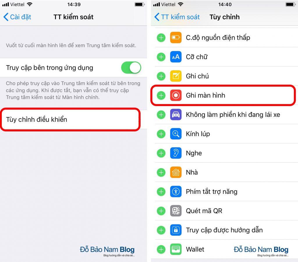 Hướng dẫn cách quay video màn hình iPhone cực đơn giản - B02
