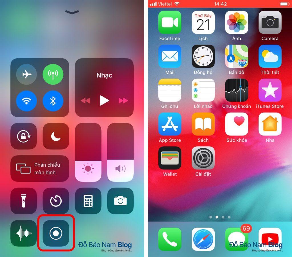 Hướng dẫn cách quay video màn hình iPhone cực đơn giản - B03