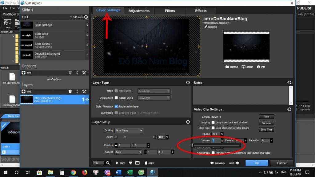 Cách tách nhạc ra khỏi video, tách âm thanh khỏi video bằng Proshow