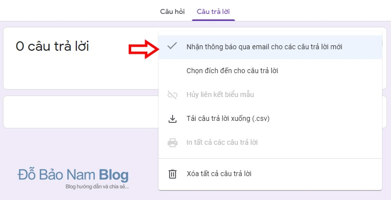 Set up Receive email notifications for new answers