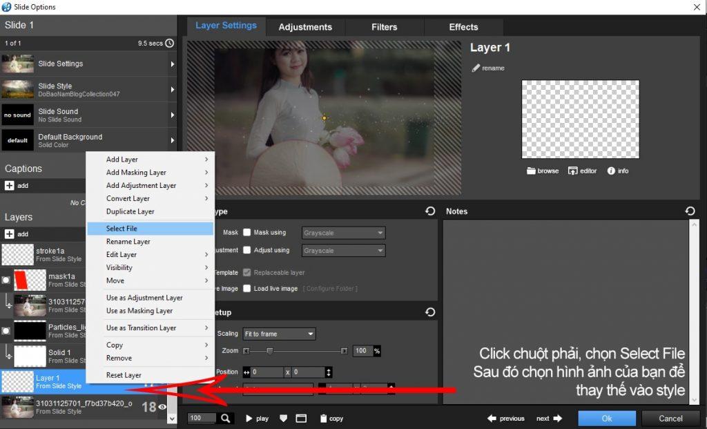 Cách tạo hiệu ứng trong Proshow Producer cho ảnh/video - B02