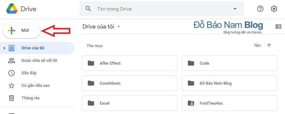 Cách tạo thư mục Google Drive trên máy tính