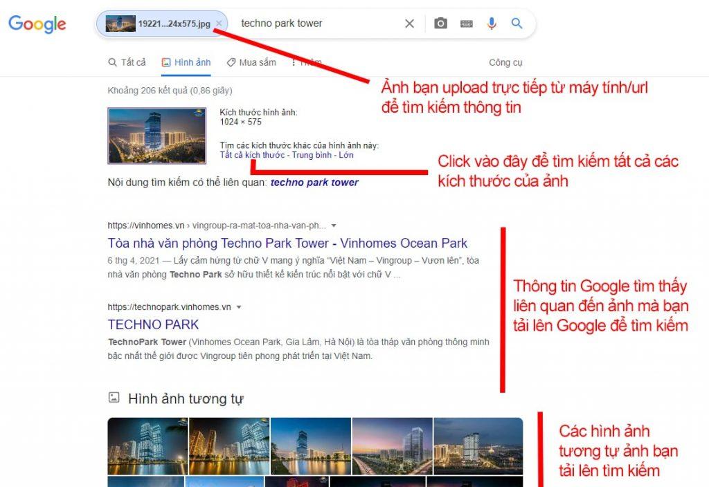 Cách tìm kiếm bằng hình ảnh trên Google chi tiết qua ảnh minh họa
