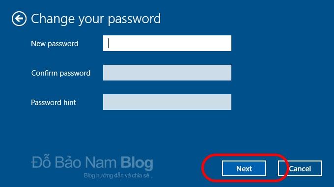 Cách xóa mật khẩu máy tính trên Win 10 - Nhấn Next để tiếp tục