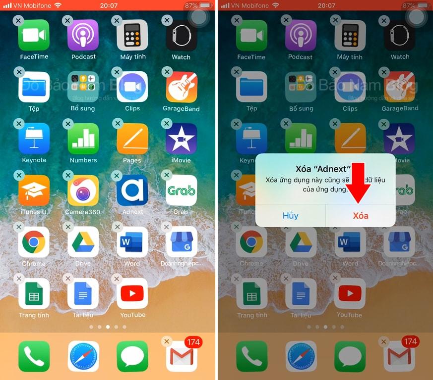 Hướng dẫn cách xóa ứng dụng trên iPhone qua hình ảnh minh họa