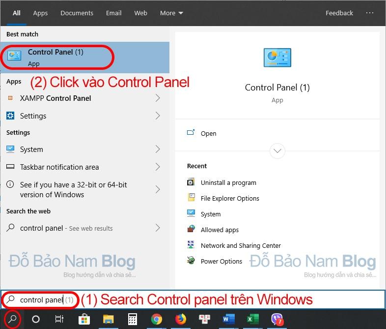 Cách xóa ứng dụng trên máy tính Win 10 bằng Control Panel - b1