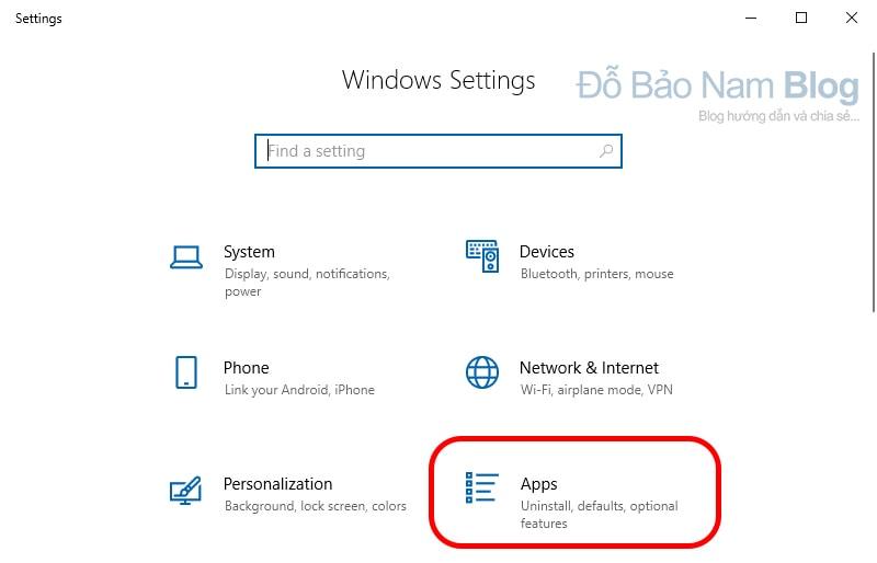 Cách xóa ứng dụng trên máy tính Win 10 bằng Windows Setting - b2