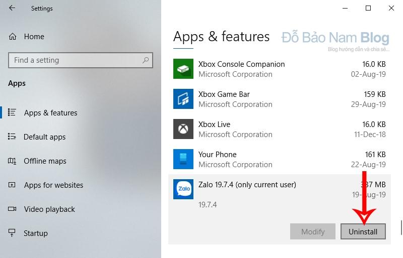 Cách xóa ứng dụng trên máy tính Win 10 bằng Windows Setting - b3